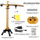 Huina 1585 12  CH Metal Remote Control Tower Crane Construction Models Toys Rc yellow