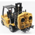 Huina Toys 1577 1/10 8ch Alloy Rc Forklift Truck Toy Crane Construction Car Vehicle With Sound Light Workbench Lift Rtr Kid Gift yellow