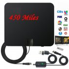 Indoor TV Antenna  Digital Aerial HD Freeview Amplified Thin HDTV 450 Mile Range black