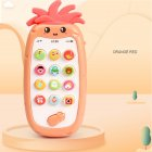 Infant Newborn Baby Simulation Plastic Music Mobile Phone Toy Early Education Gift Orange