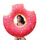 Inflatable Giant Donut Swimming Pool Floats with Two Bite for All Ages Swim Ring