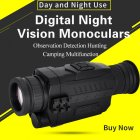 Infrared Digital Night Vision Monoculars Full Dark 5X40 200M Range Hunting Monocular Night Vision Optics Camouflage