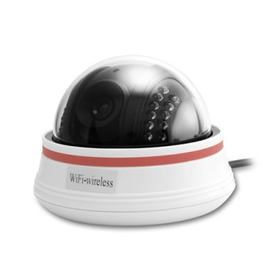 Nightvision Wireless Dome IP Camera (W)