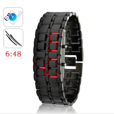 Iron Samurai Red LED Watch