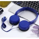 J08 Wired Earphone Universal Gaming Headset with Microphone for Computer blue