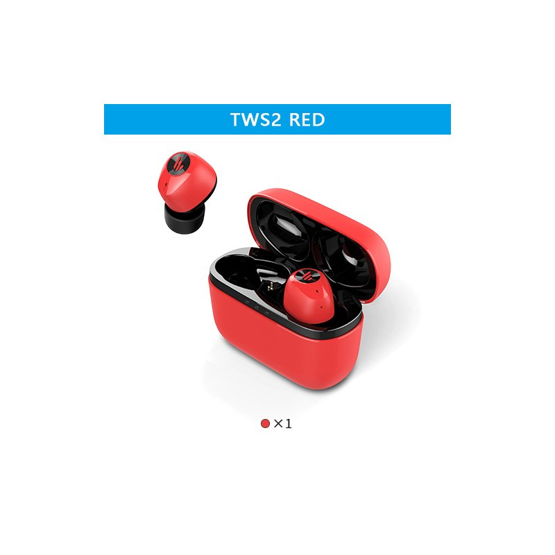 EDIFIER TWS2 TWS Earbuds Bluetooth V5.0 IPX4 12 Hours Play Time Multifunctional Control Wireless Earphones red