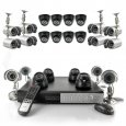 24 Camera Surveillance Set - 12 Indoor Dome Cameras, 12 Outdoor Cameras, H264 DVR, 1TB