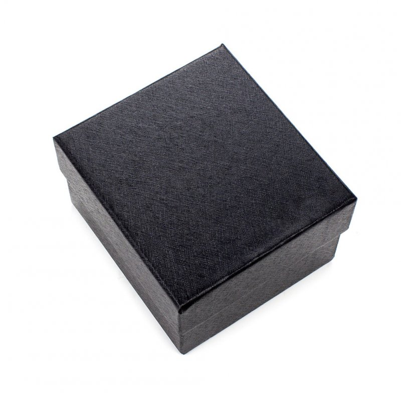 Jewelry Watch Box Case Display Watch Holder with Foam Pad Inside Present Gift Box black