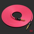 KGRB Electric Guitar Cable Connecting Line Instrument Bass Keyboard Drum Pure Copper Noise Reduction Shield Pink_3 meters_Straight elbow head