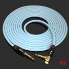KGRB Electric Guitar Cable Connecting Line Instrument Bass Keyboard Drum Pure Copper Noise Reduction Shield blue_6 meters_Straight elbow head