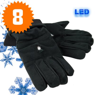 Thermal Winter Gloves with LED Light