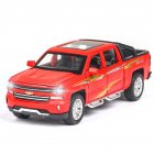 Kids 1:32 Alloy Car Modeling Light Sound Toy Decoration Matte red