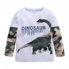 Kids Boys Cartoon Printing Cotton T-shirt