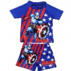 Kids Cartoon Swimming Suit-Captain America M