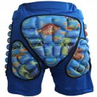 Kids Boys Girls 3D Protection Hip EVA Paded Short Pants Protective Gear Guard Pad Ski Skiing Skating Snowboard   Blue M