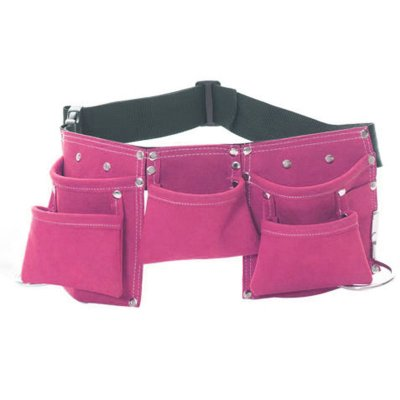 Children Leather Toolkit Tool Pouch Pockets