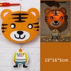 Kids  Handmade  Cartoon Luminous Lantern Diy Portable Puzzle Toy Little Tiger_The New