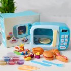 Kids Mini Kitchen Play House Toy Imitation Electric Appliance Toy for Boys Girls Microwave Oven blue