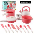 Kids Play House Toy Kitchen Utensils Cooking Pots Pans Food Dishes Cookware As shown