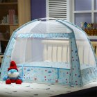 Kids Summer Dome Mongolian Yurt Shape Folding Mosquito Net blue