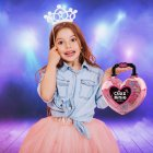 Kids Water-soluble Cosmetics with Loving Heart Shape Handbag Play House Toy