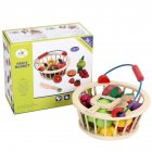 Kids Wooden Vegetables Fruit Cutting Play House Toy Early Education Supplies Gift 12pcs/set fruit