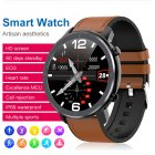L11 Smart Bracelet Round Dial Touch Screen Sports Step Count Heart Rate Health Monitoring Watch IP68 Waterproof Black