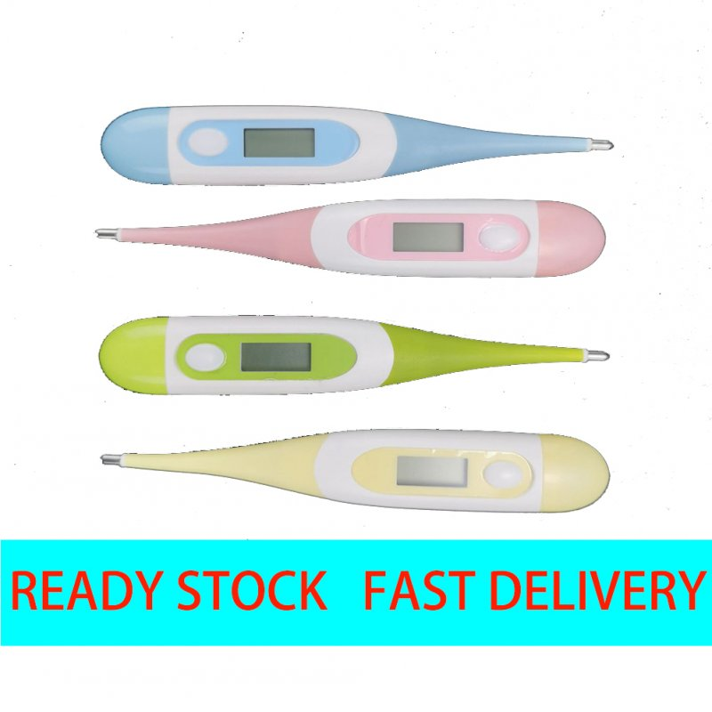 LCD Digital Heating Thermometer Tools Kids Baby Body Temperature Measurement Portable Random color_Normal specifications