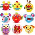 LED Cartoon Animals Paper Chinese Lantern DIY Handcrafts for Child Birthday Party Random style