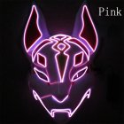 LED Cold Light Mask for Party Festive Christmas Halloween Costume Part Bar Dress Up  Standard mask pink