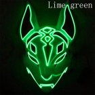 LED Cold Light Mask for Party Festive Christmas Halloween Costume Part Bar Dress Up  Standard mask fluorescent green