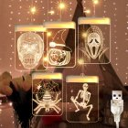 LED Halloween Lamp String Masquerade Decoration Colorful Light Festival Layout Theme Lanterns warm color