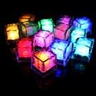 LED Ice Cubes Shape Glowing in Water Light Party Ball Luminous Flash Light Wedding Festival Bar Wine Glass Decoration 12PCS Colorful fast flash