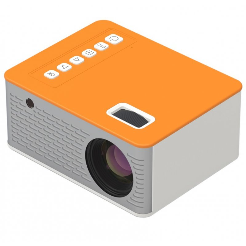 LED Mini Projector 480*272 Pixels Supports 1080P USB Audio Portable Projector Home Media Video player yellow