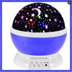 LED Moon Star Projector Night Lights for Parties Children Bedrooms Decoration Lighting