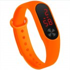 LED Simple Watch Hand Ring Watch Led Sports Fashion Electronic Watch Orange