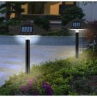 LED Solar Lawn Lamp Outdoor Waterproof Mushroom Light Control for Garden Landscape Decor White light