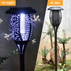 LED Solar Mosquito Killer Light Home Outdoor Garden Electric Mosquito Repeller Lamp black