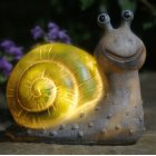LED Solar Powered Snail Shape Lamp Landscape Decor Warm Light 13x14.5x8cm