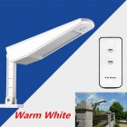 LED  Solar-powered Outdoor Lights with Remote Control Adjustable Human Induction Wall Light White light warm white light