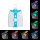 LED Toilet Lamp 8 Colors Human Body Induction Waterproof UV Sterilization Light Colorful