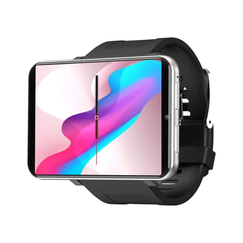 Original LEMFO LEMT 4G Smart Watch 2.8 Inch Big Screen 2700MAH 5 Million Pixels GPS Call Watch Silver grey (3+32G)