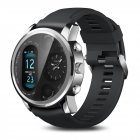Original LEMFO T3Pro Smart Watch Heart Rate Sleep Monitor Dual Time Zone Smart Watch Silver grey