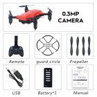 LF602 Wifi FPV RC Drone Quadcopter FPV Profesional HD Foldable Camera Drones Altitude Hold 0.3MP 1 battery red
