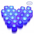 LITAKE 24PCS Candle Shape Lights Flameless LED Tea Lights Set Battery Powered Candle Lights Party Wedding Decoration