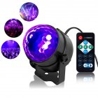 LUNSY 2PCS Portable LED 6 Colors Sound Actived Crystal Magic Ball Stage Party Light with Remote Control, 85-265V Disco Ball Lamp Set for Party, KTV, Club