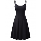 Lady Sleeveless Adjustable Flare Dress