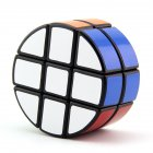 Lanlan Magic Cube Round 2X3X3 Cylindrical Sticker Smooth Speed Cube Educational Toy Black bottom