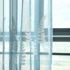 Lavender Embroidery Tulle Curtain for Home Living Room Bedroom Shading blue_1 * 2.5 meters