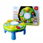 Learning Activity Table Baby Toys Educational Musical Desk Toys with Piano Pat Drum Light Up as shown